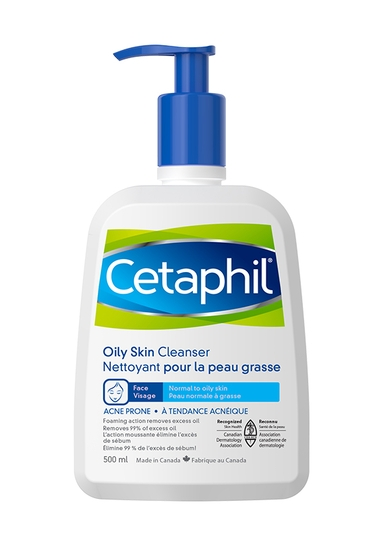 Cetaphil Oily Skin Cleanser, 500 mL - front